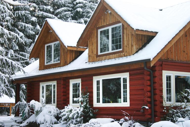 Copper Creekside Cabin in the snow