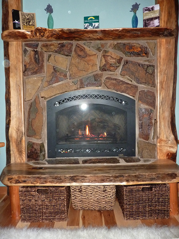 Thermostat Controlled gas fireplace