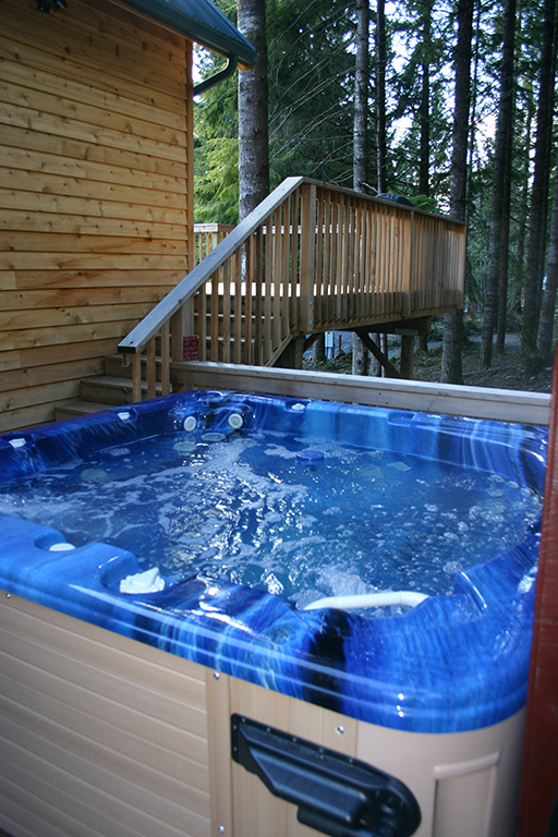 Private Hot tub on back deck