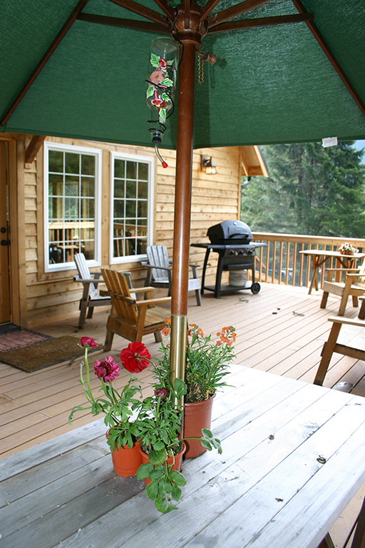 A big beautiful deck is great for gathering