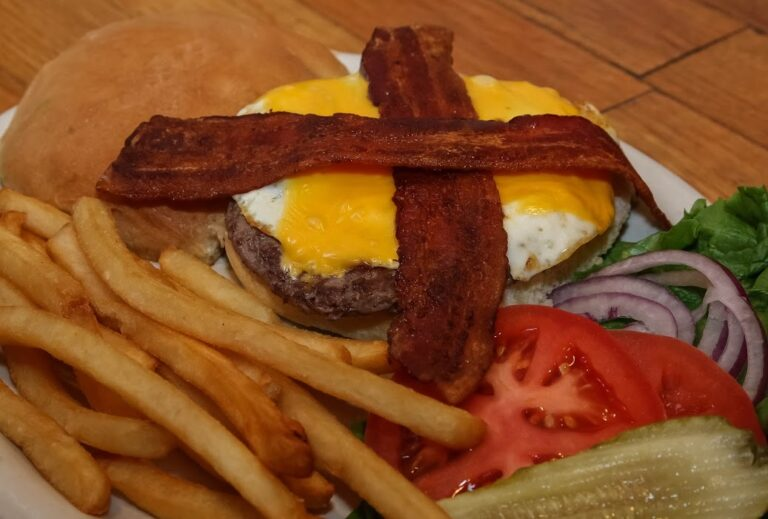 One of the delicious burgers at Copper Creek Restaurant