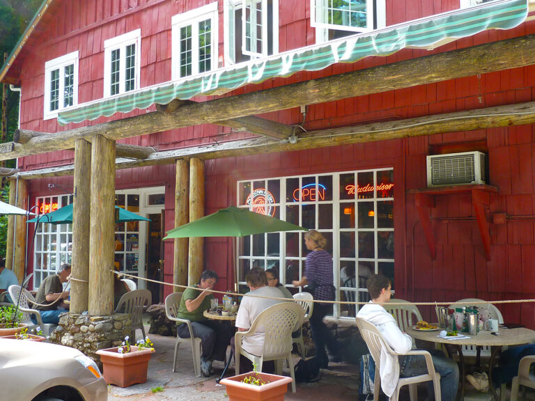 Outdoor seating in summer months