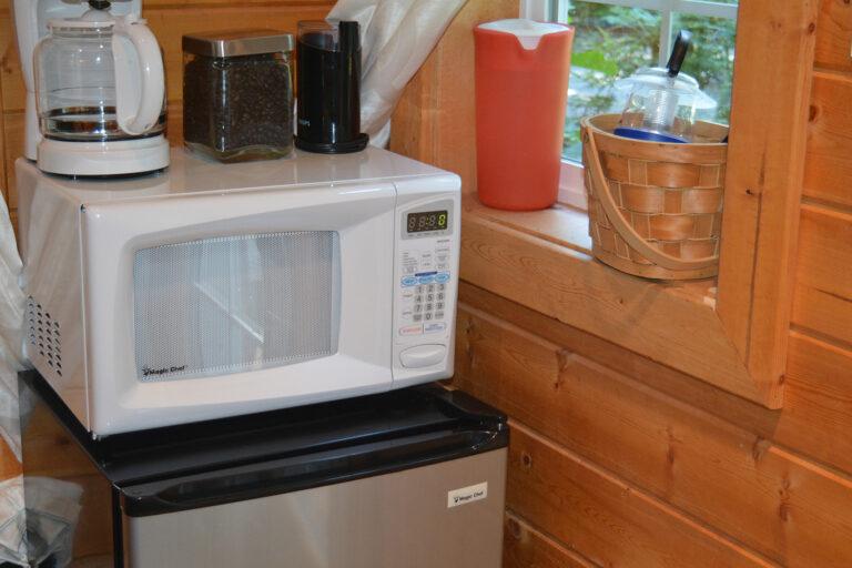 Microwave, coffee maker