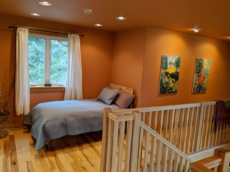 Twin Bed at the end of a hall