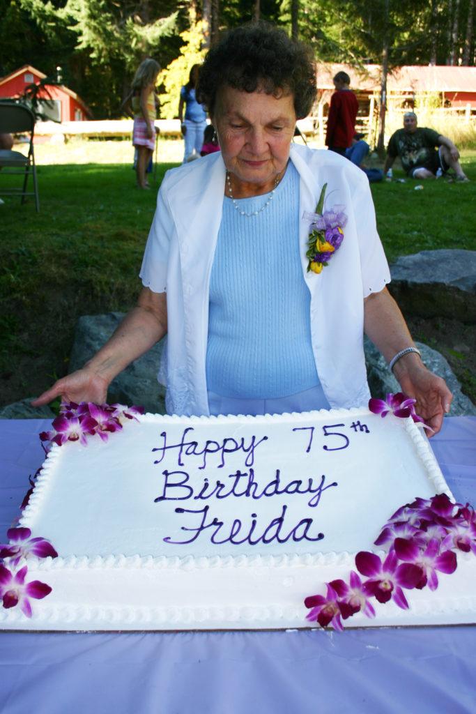 Freida Christian, previous owner, celebrates her 75th Birthday